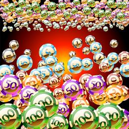 Conjunto Libre de vectores de oro una brillante fichas de casino