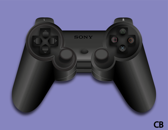 PlayStation Joystick Vector
