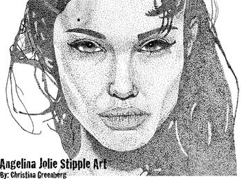 Angelina Jolie Stipple Art Vector