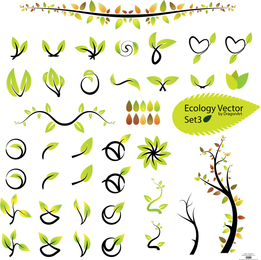 Ecology leaves symbols