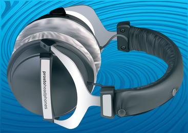 Vetor de fones de ouvido 3D