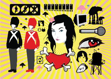 Conjunto de ilustrações vetoriais