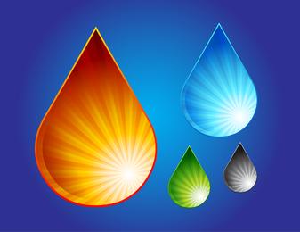 Wassertropfen-Grafiken