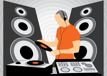 DJ bei der Arbeit