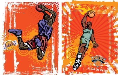 Ilustración vectorial de baloncesto