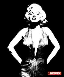 Marilyn Monroe b & w Vector