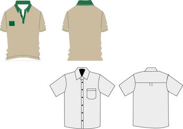 Uniformes de trabalho de camiseta