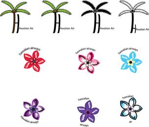 Conjunto de plantas havaianas