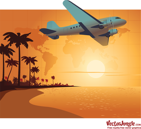 Sunset Travel Vector