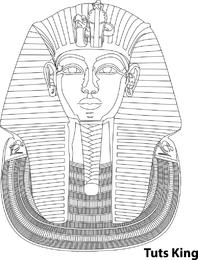 Ilustração de contorno do rei Tut