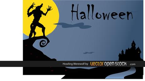 Lobo aullador de Halloween