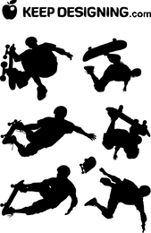 Skate Boarding Art Vectors Free