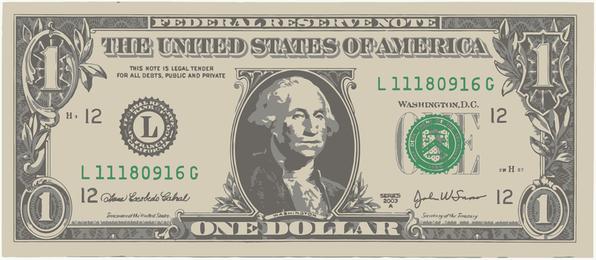 One American Dollar Bill