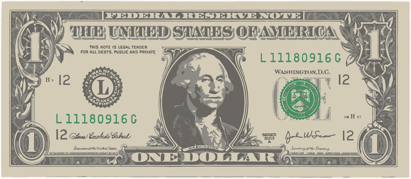 one american dollar bill vector download rh vexels com hundred dollar bill vector dollar bill vector art free