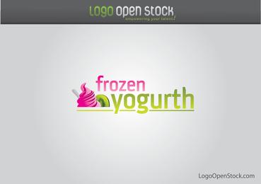 Logotipo de iogurte congelado