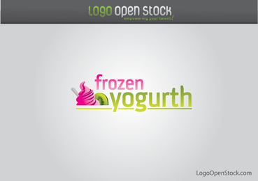 Logotipo de yogurt congelado