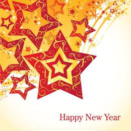 Estrela da plataforma giratória do projeto do ano novo