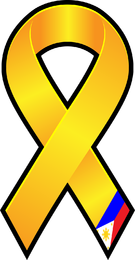 Illustrated yellow ribbon