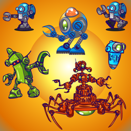 Space Robot Vector 3