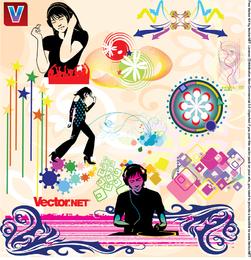 Music Nightlife Flyer Vector Design Elements