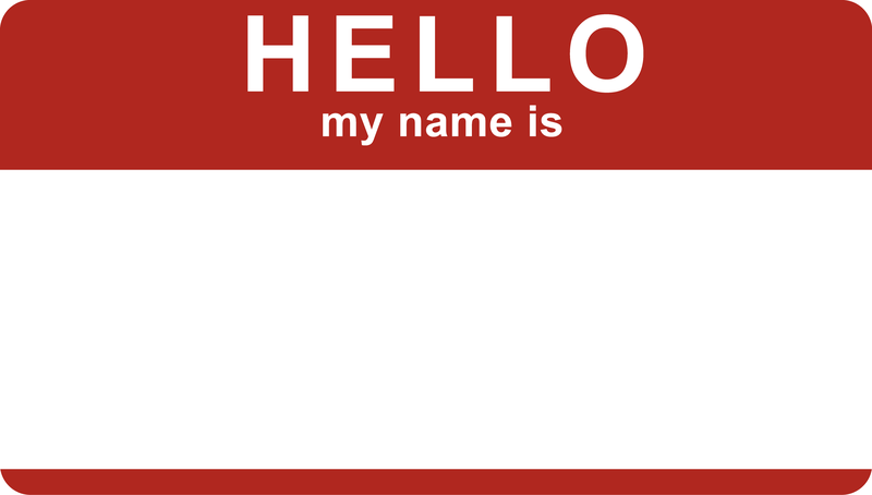 Hello My Name Is: Hello My Name Is Sticker