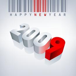 Código de barras feliz año nuevo
