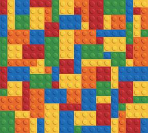 Lego Brick Backgorund Vector Graphic