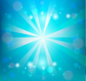 La luz del sol en el cielo azul ilustración vectorial