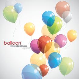 Ballons 01 Vektor