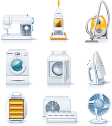 White Household Appliances set