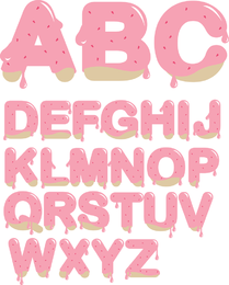 Strawberry Jam Letters Vector