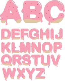 Vector de letras de mermelada de fresa