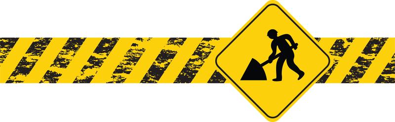 Maintenance And Repair Series Of Signs Vector