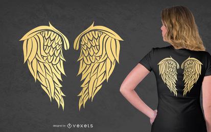Golden Wings T-Shirt Design