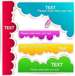 Colorful clouds text bubbles