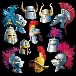 Vetor de capacete de samurai