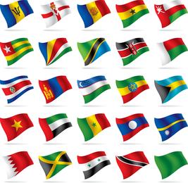 Bandera de países y regiones Vector de bandera