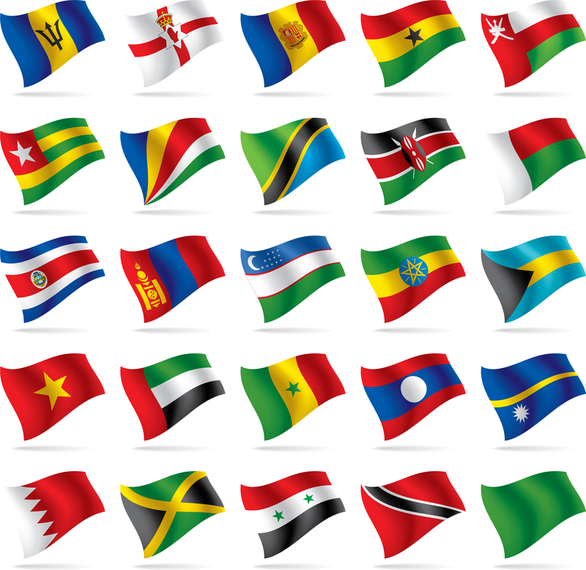 Countries And Regions Flag Flag Vector