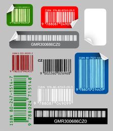 Vector de etiqueta de código de barras