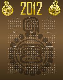 2012 Illustrator Calendar 02 Vector