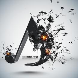 Gráficos tridimensionais explosivos 05 Vector