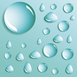 Different Shapes Of Water Droplets Water Droplets Vector