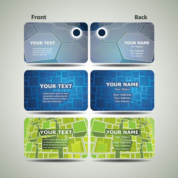 Dynamic Technology Business Card Template 02 Vector