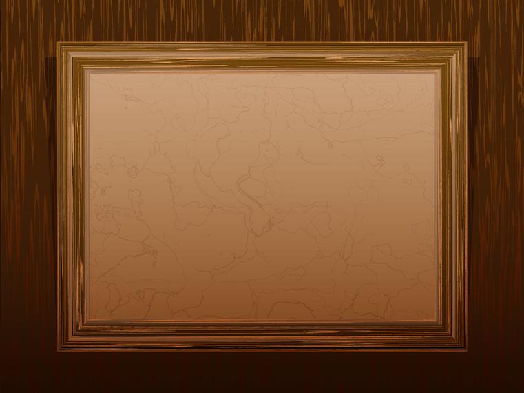 Marco de madera cl sico 02 del vector descargar vector - Marcos de madera ...