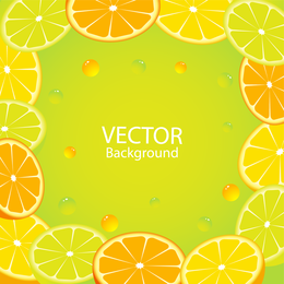 Quadro de fundo laranja limão