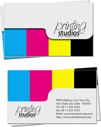 Estudios de impresión tarjetas de visita.