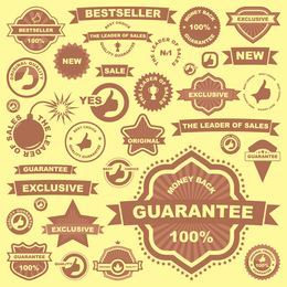 All Kinds Of Badge Labels 02 Vector