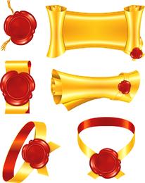 Gold Scrolls Clip Art