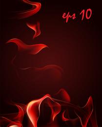Roter Rauch-Flammen-Vektor