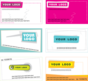 5 Sets Of A Beautiful Business Card Template Vector